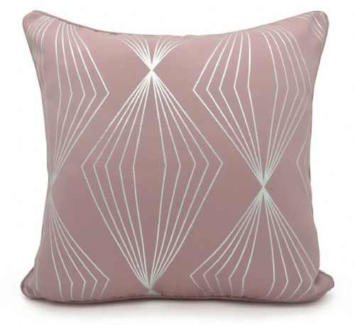Geometric Onyx Metallic Foil Print Design Filled Scatter Cushion Blush Pink
